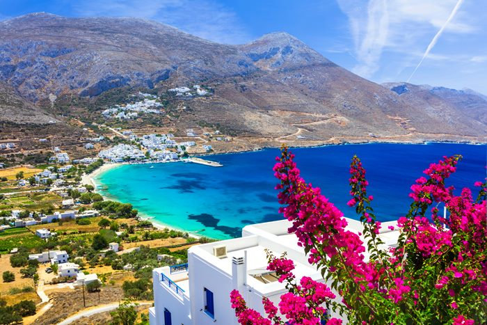 Amorgos island in Greece