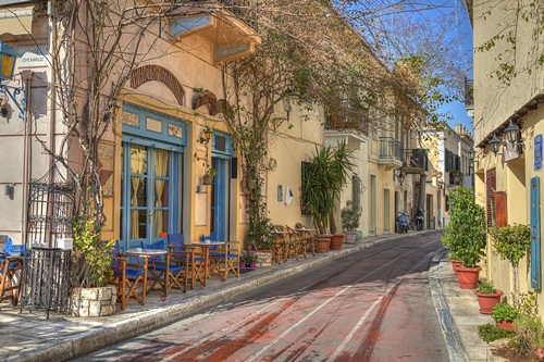 Plaka street - Athens