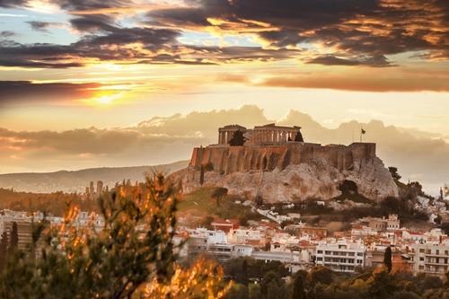 Sunset Athens Acropolis