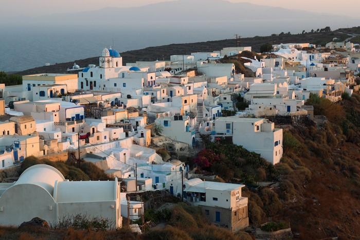 Thirassia island in Greece