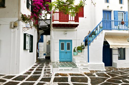 Traditional houses of Mykonos