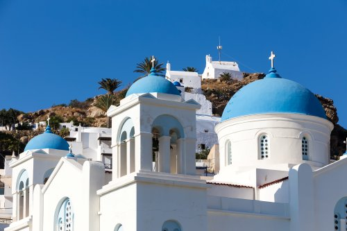 Greek Church in Ios Island, Greece