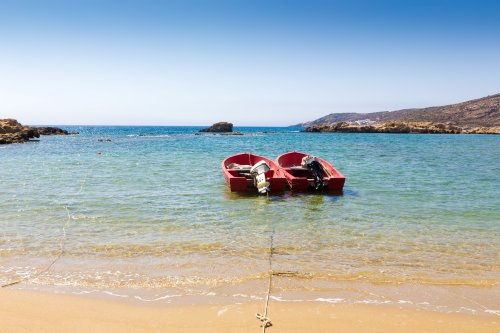 Ios island coast