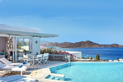 Elounda Gulf Villas & Suites pool with view