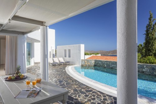 Elounda Gulf Villas & Suites private terrace