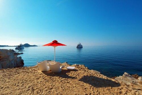 Hotel Petasos Beach private beach
