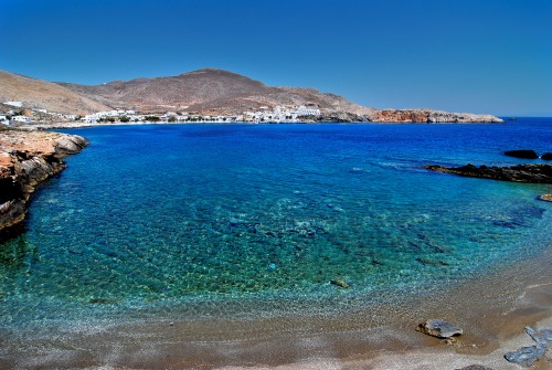 Beach in Folegandros island in Greece