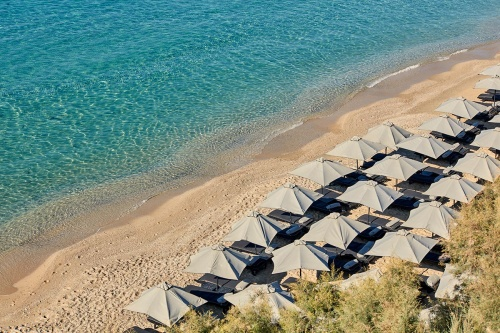 Myconian Villa Collection private beach