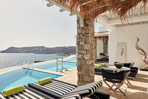 Myconian Villa Collection terrace with pool