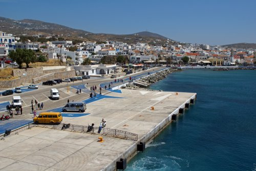 Tinos island port