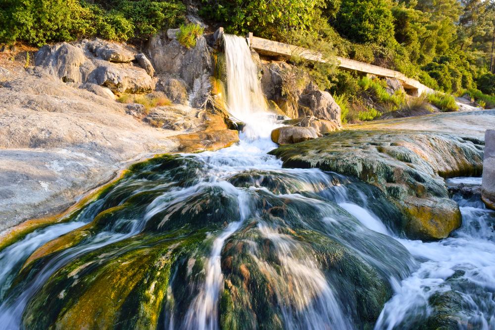 Natural thermal springs,
