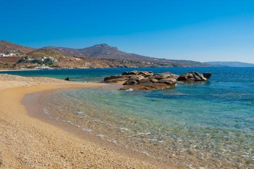 Kalafatis Bay beach on the island of Mykonos