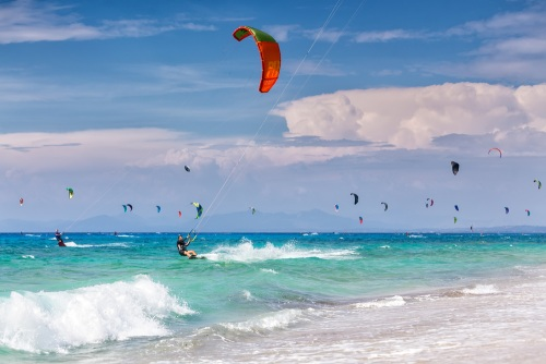 Lefkada kite surfing