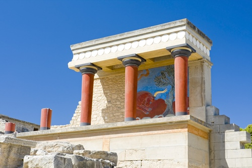 Knossps Palace in Greece
