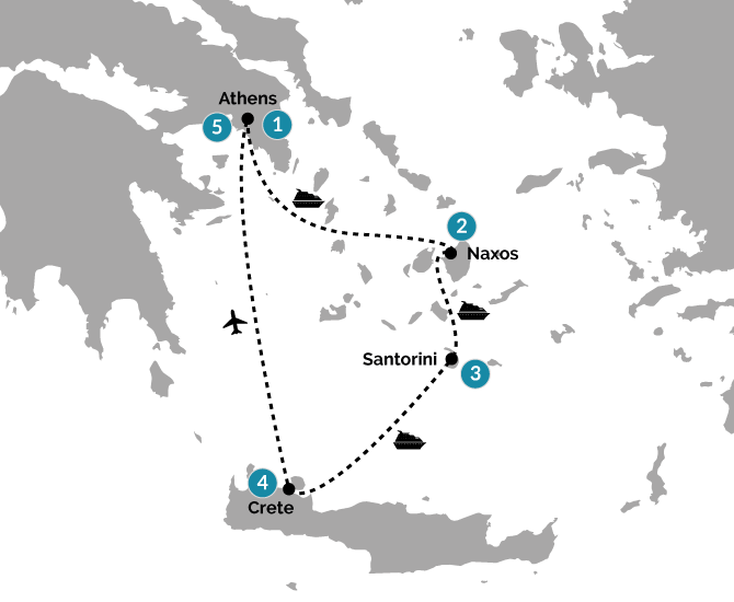 Unforgettable Greece Route Map