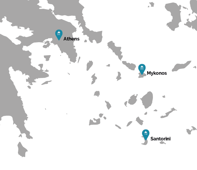 Cyclades Highlights Map
