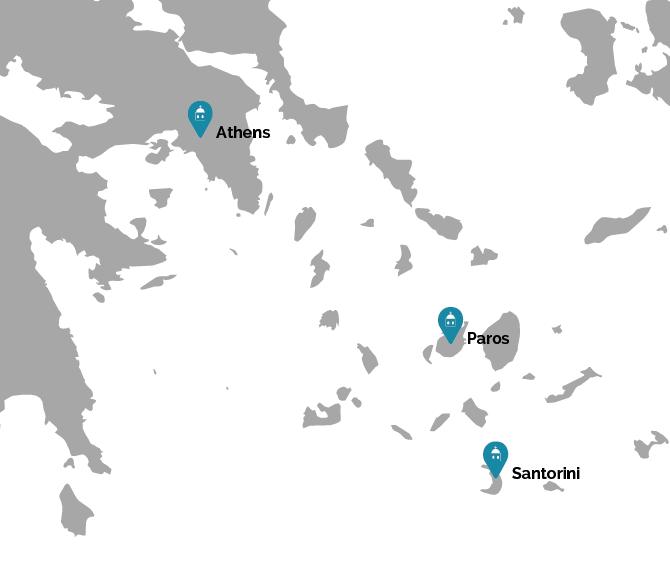 Cyclades Island Adventure Map