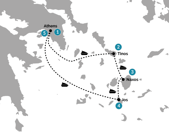 Map of Discover the Active Cyclades