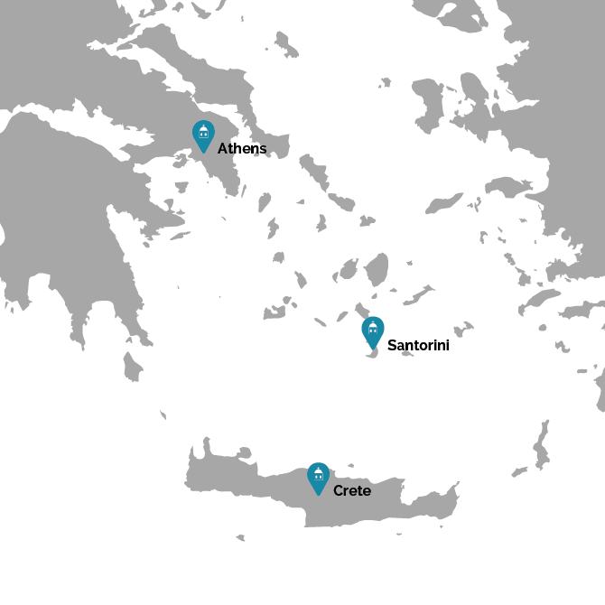 Our passion for Greece map