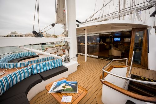 M/S Panorama, outdoor lounge area