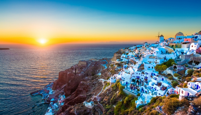 Sunset in Santorini, Greece, Unforgettable Greece