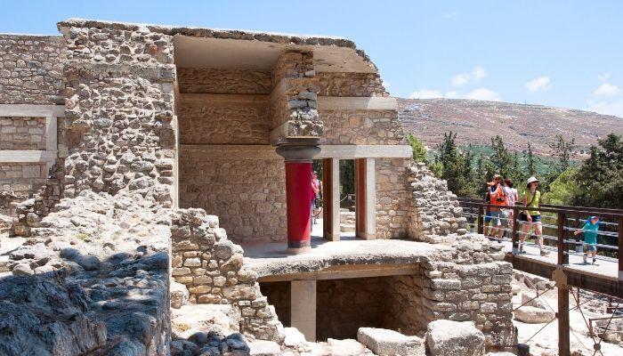 Family visiting Knossos, Crete