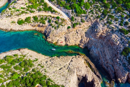 Aerial view of Zakinthos, Greece