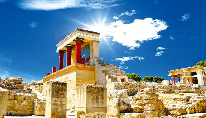 The Ancient Palace of Knossos on Crete