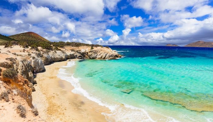 Beach on Naxos island
