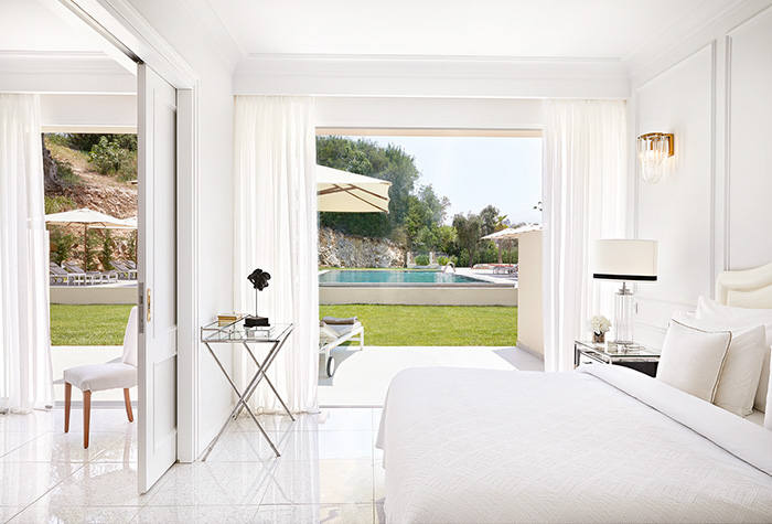 Beach frond suite at Corfu Imperial Hotel , Corfu Greece