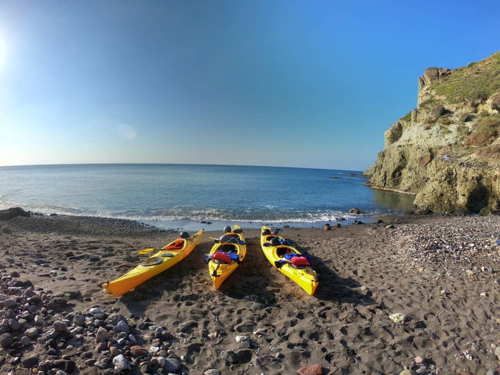 Explore Santorini on a sea kayak