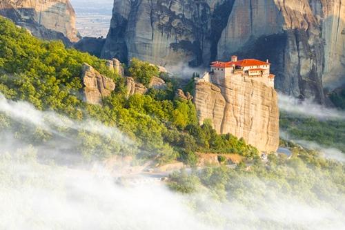 Great Monastery of Varlaam on the high rock in Meteora, Greece