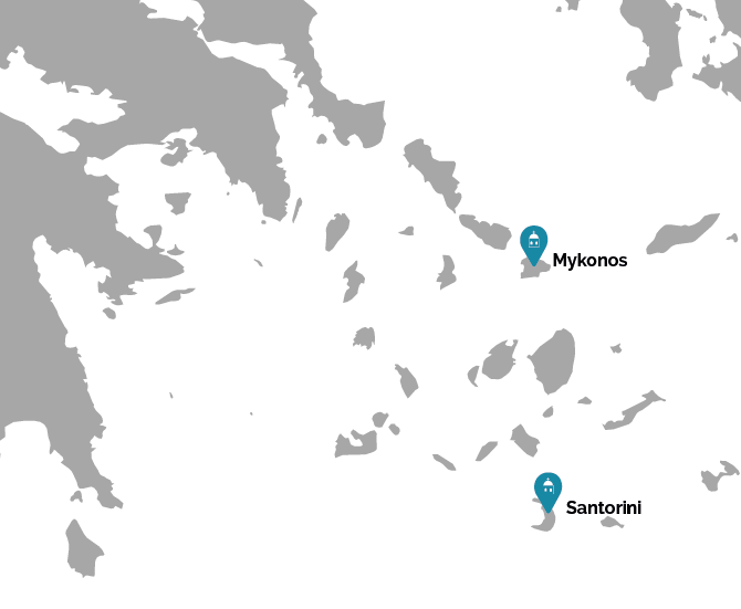Mykonos and Santorini getaway