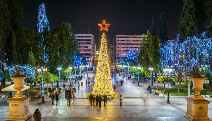 Christmas in Syntangma Square, Athens