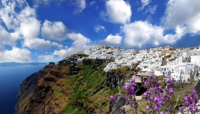 Fira, Santorini in Spring
