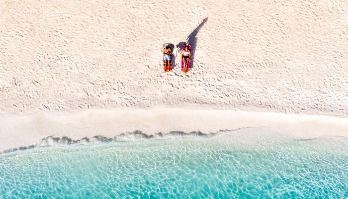 Idyllic beach in Greece