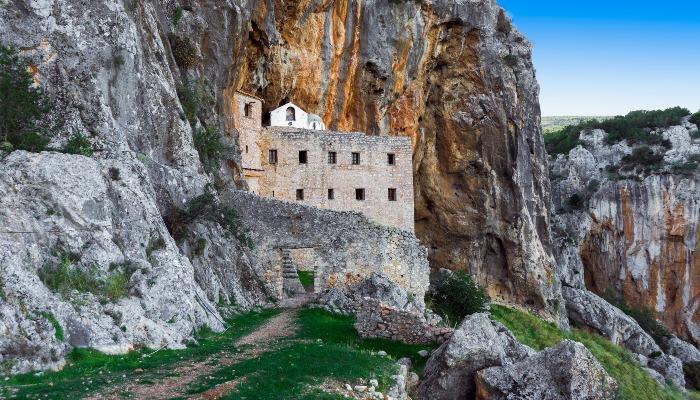 Monastery in Argolida, Peloponnese, Greece.