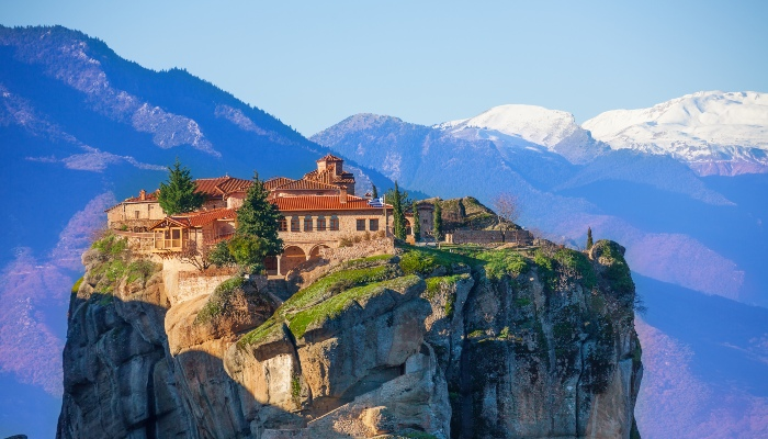 Mountain monastery of the Holy Trinity, Greece