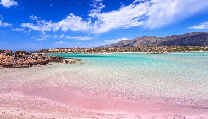 Pink sand of Elafonisi Beach, Crete
