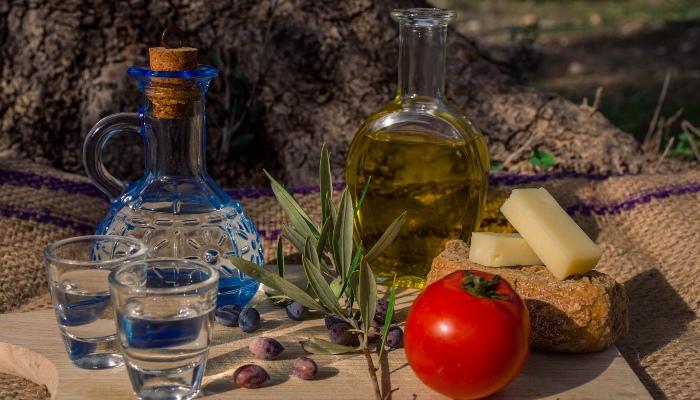 Selection of Cretan food, Crete