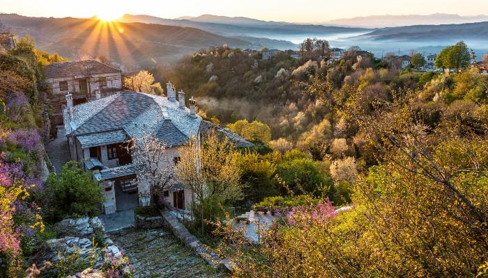 Sunrise in Zagori villages