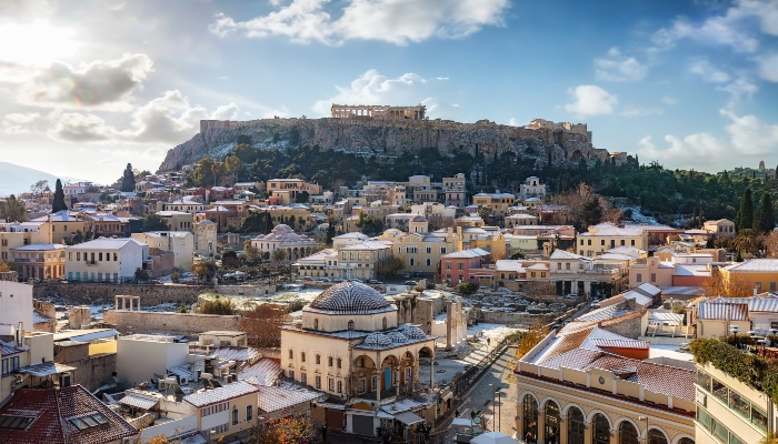 View over Plaka, Athens