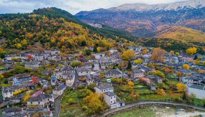 Village in autumn, Epirus