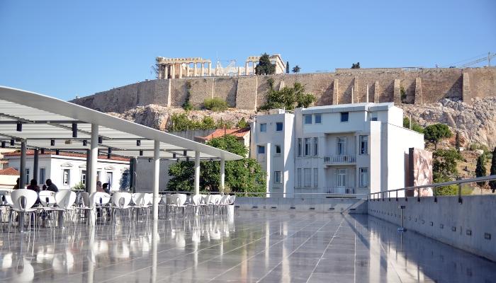 Acropolis museum terrace cafe